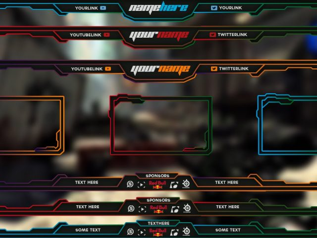 Free Twitch Overlay Template Pack # 1