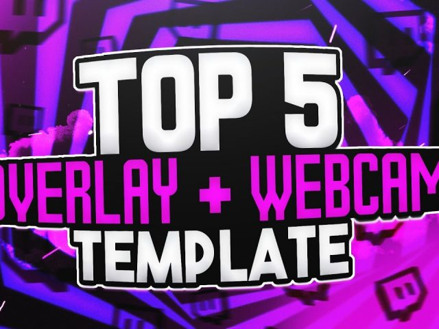 TOP 5 FREE STREAMING OVERLAY + WEBCAM TEMPLATE | Photoshop CC & CS6