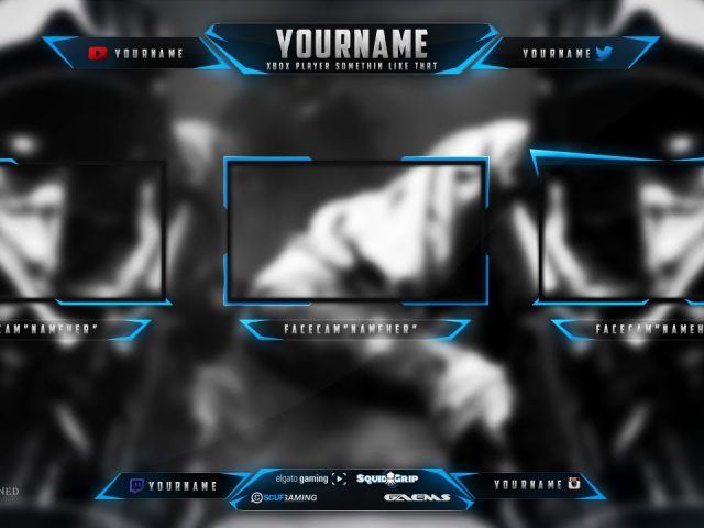 Twitch Overlay Banner Template livestream Free PSD 2015 [HD]