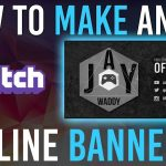 How to make a Twitch offline banner! (FREE OFFLINE BANNER TEMPLATE)