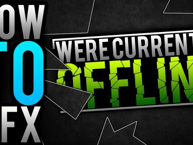 """How To GFX """"Twitch Offline Banner!"""" Adobe Photoshop CS6 Tutorial"""