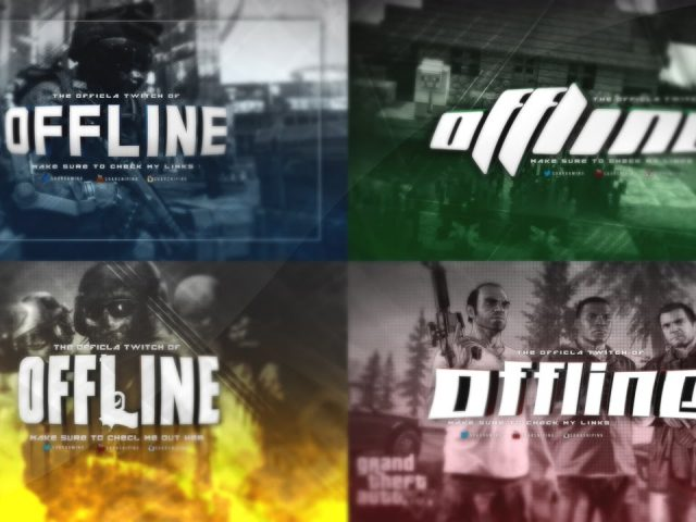 Twitch offline template pack By The Kondor 4 Different Games [HD] 2015