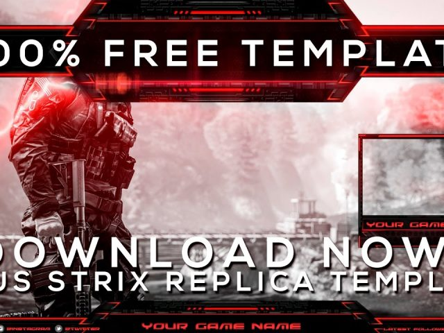 100% FREE TWITCH OVERLAY | ASUS STRIX REPLICA TEMPLATE | DOWNLOAD NOW!