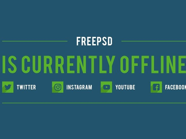 Free Twitch Banner Template – Offline Flat Multicolor – PSD – Free Download