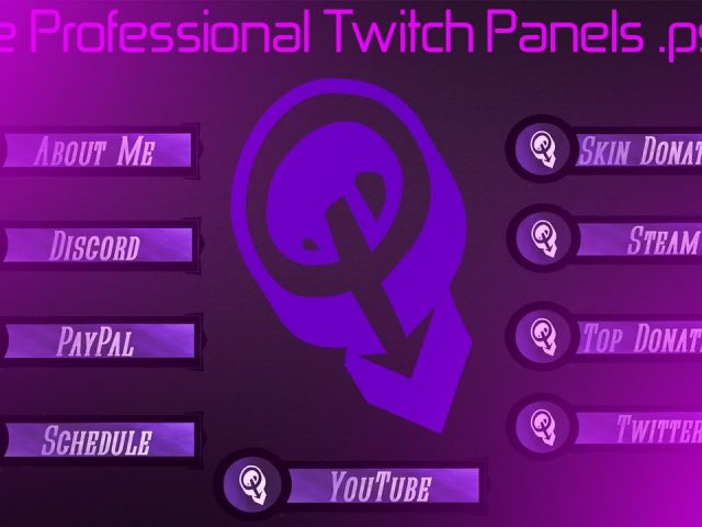 Professional Twitch Panels Free Download