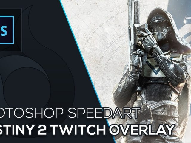 Destiny 2 Twitch Overlay | Photoshop Speedart | Free Download | German | Wildfire Graphics