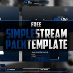 Simple stream pack template | Free Download | Photoshop CC