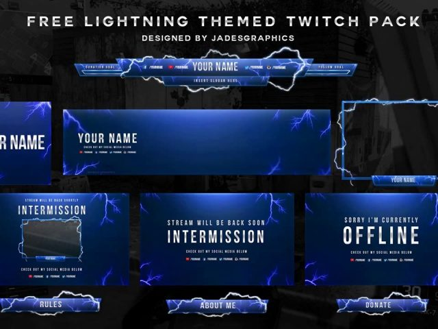 Free Twitch Template Pack | Designed By @Jadesgraphics