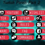 Free Twitch Panels/Buttons Pack Template 2 – Any Colour (Download Link)