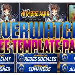 "FREE TEMPLATE – TWITCH BANNER PACK ""OVERWATCH"" – WEBCAM, INTERMISSION, BUTTONS, SCHEDULE AND OFFLINE"