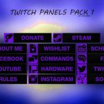 Free Twitch Panels/Buttons Pack Template 1 – Any Colour (Download Link)