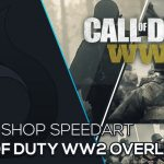 Call of Duty ww2 Twitch Overlay | Photoshop Speedart | Free Download | German | Wildfire Graphics
