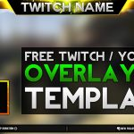 Free Twitch Overlay Template Download.psd – Photoshop Stream Overlay 2016