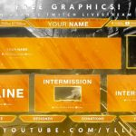 "Free Graphics: Twitch / Hitbox livestream template pack #4: ""Clean Orange"" – Photoshop by @YLLiBzify"