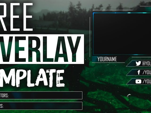 FREE WEBCAM OVERLAY TEMPLATE FOR LIVESTREAM TWITCH/YOUTUBE by Sanczo