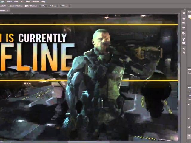 [Photoshop] Offline Twitch Image