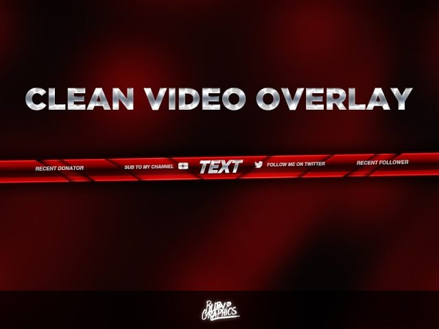 FREE GFX: Free Photoshop Video Overlay Template: Twitch, Gaming, Streaming Overlay Design (2017)