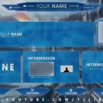 Free Graphics: Twitch / Hitbox livestream template pack #2: No theme – Photoshop by @YLLiBzify