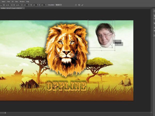 Making a Offline Twitch banner!