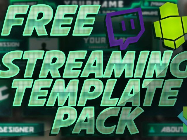FREE Twitch/Hitbox Streaming overlay template pack 2015 + Tutorial