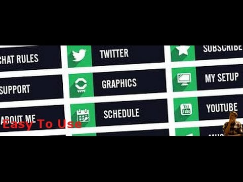Twitch Panels editor website Easy & Free
