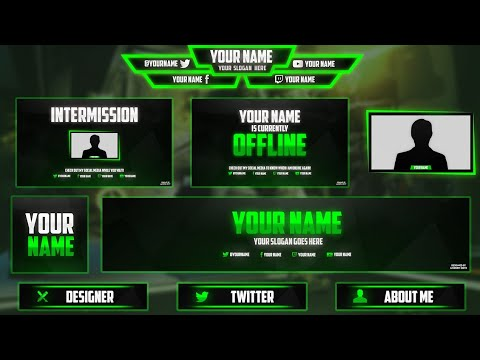 FREE Twitch/Hitbox Streaming Overlay Template Pack 2017 | Twitch Stream Pack | Various Colours