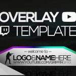 2016 FREE Twitch Overlay Template | PSD File Download