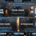 Free Graphics: Twitch / Hitbox livestream template pack #1: COD AW – Photoshop by @YLLiBzify
