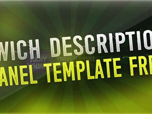 Free Twitch Panel Template (With Presets)