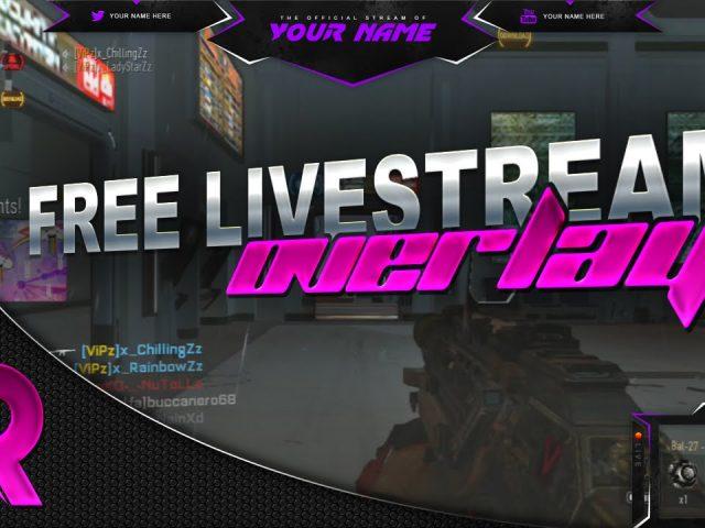 Free Live Stream Overlay (Twitch) #2