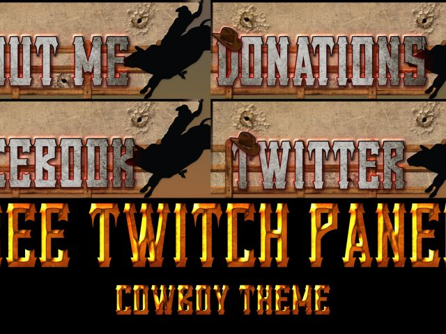FREE Twitch Tv Panels/Buttons | Cowboy Theme | Pack 10