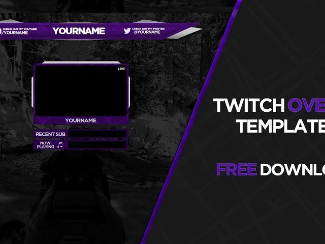 FREE TWITCH OVERLAY 2017!! +TUTORIAL!