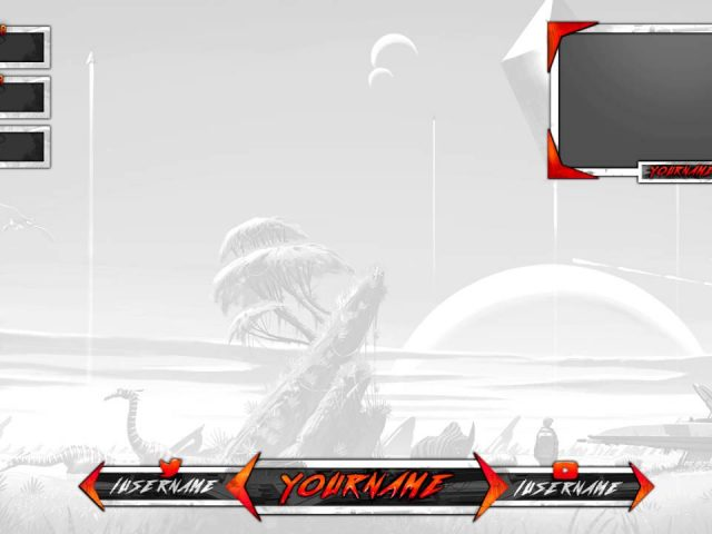 Free Gaming Twitch Overlay Template PSD #3 | Photoshop CS6