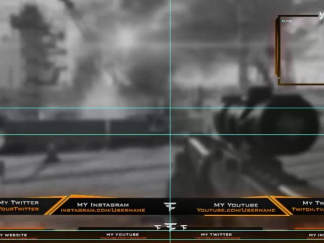 Youtube & Twitch Overlay + Cam, Photoshop PSD File  (Free Download  It )