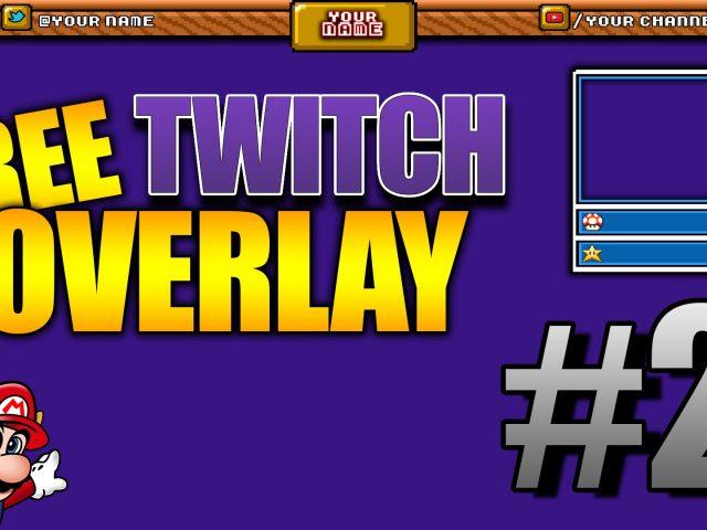 Super Mario Bros. 3 overlay – Free Twitch Overlays #2 (1920×1080) (.PSD)