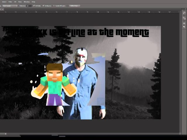 Zinx Linkk Halloween Themed Twitch Offline Screen Speed Art (6)