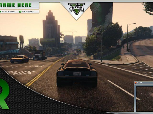 Free GTA V Livestream Twitch Overlay ( Speedart )