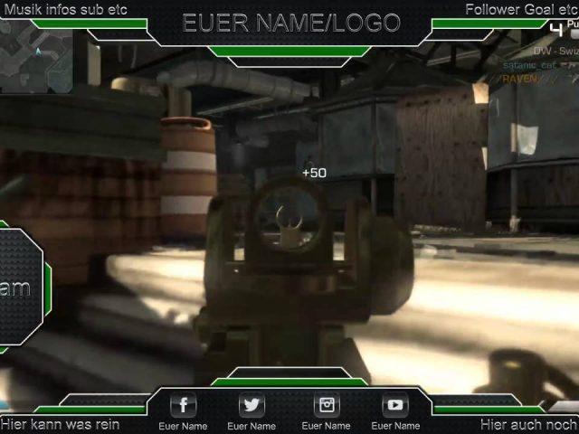Twitch Overlay Call of Duty Ghosts #1 ( Free PSD Download )