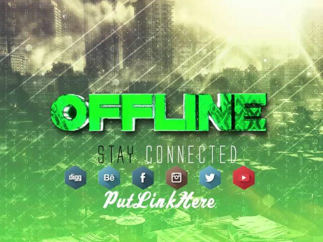 Gaming Twitch Offline Template  Download For Free   2016 