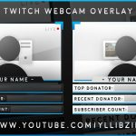 "Free Graphics: Photoshop Twitch video overlay: ""Matte Facecam"" template #12 @YLLiBzify"