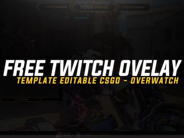 Free: Twitch Overlay Template Editable  | CSGO – OVERWATCH | DOWNLOAD PSD