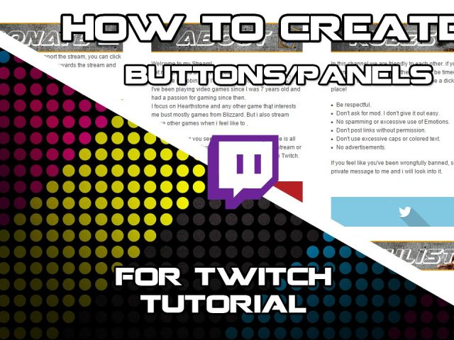 Tutorial | How To Make Twitch Buttons/Panels