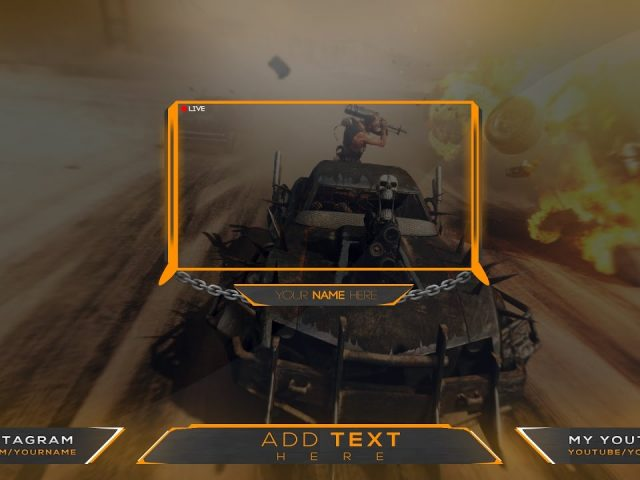 FREE Twitch Overlay Banner Template livestream  template#11 | Photoshop