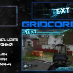 """Orbital"" Blue Free GFX Overlay, Facecam, Twitch/HitBox Info Panels Template GFX Pack"