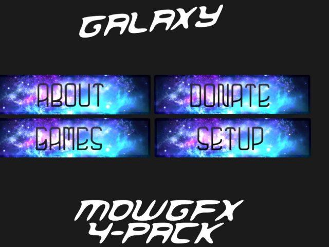 [Free] Twitch Galaxy Panel 4-Pack