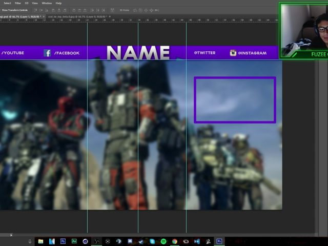 Free Twitch Overlay Template!!!!! PSD!