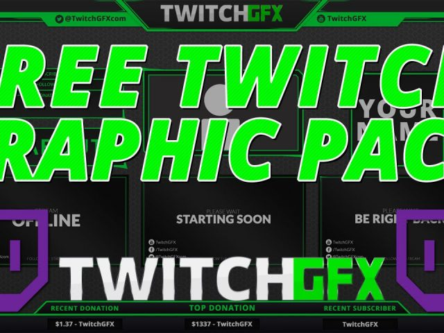 Free Twitch Overlay Graphics Template Pack & Tutorial