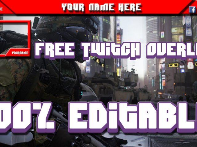 Free 100% Editable Twitch overlay