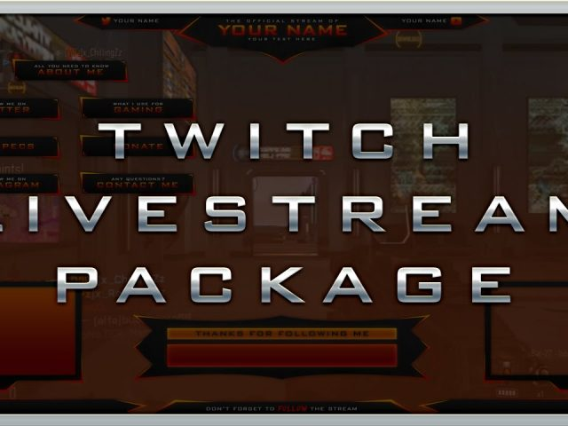 Free Twitch Livestream Template Package