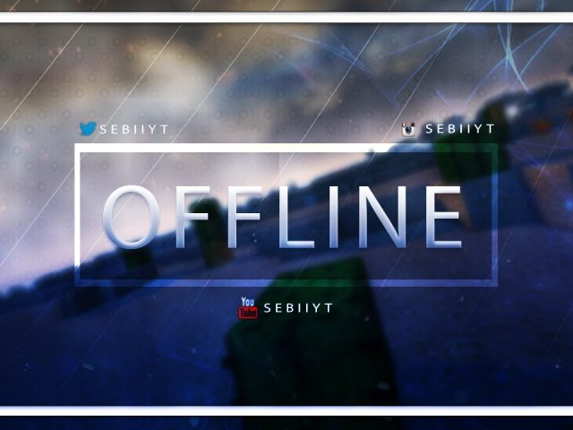 Twitch Offline Screen Speed Art | SunnyArts